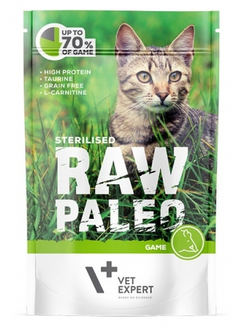 Raw Paleo Cat Sterilised Game 100g