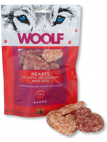 Woolf Hearts of Duck or Chicken with Rice 100g