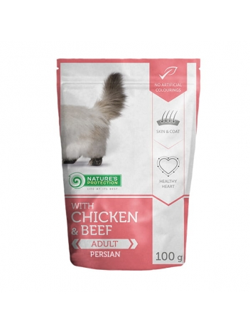 Nature's Protection Adult Chicken & Beef Persian 100g