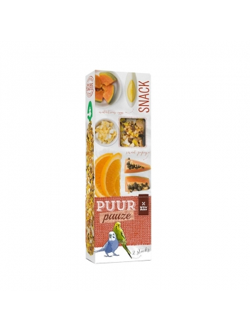 Puur pauze seed sticks budgie with exotic fruit & egg 60g