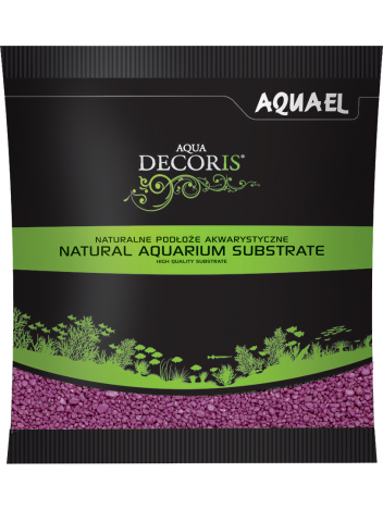 Żwirek Aqua Decoris 2-3mm fuksja 1kg