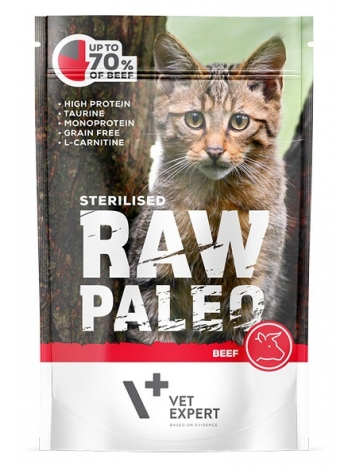 Raw Paleo Cat Sterilised Beef 100g