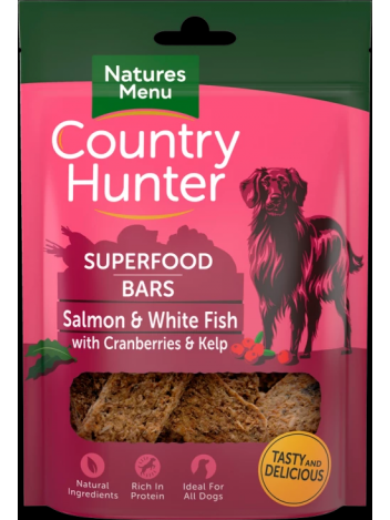 Country Hunter Superfood Bars Salmon and White Fish 100g