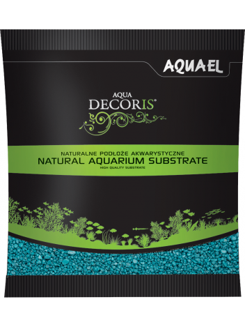 Żwirek Aqua Decoris 2-3mm turkusowy 1kg