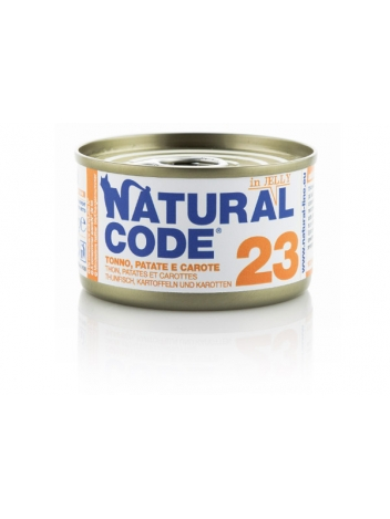 Natural Code Cat 23 Tuna, potatoes and carrots in jelly 85g