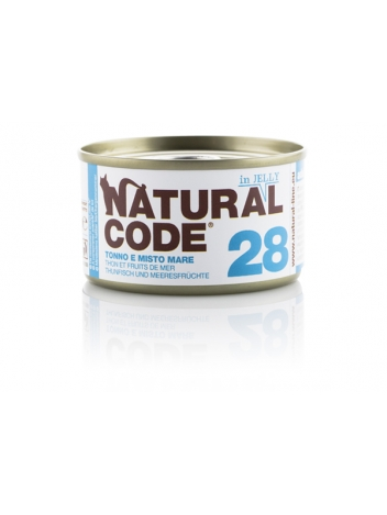 Natural Code Cat 28 Tuna and mixed seafood in jelly 85g