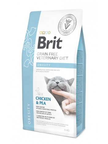 Brit Veterinary Diets Grain Free Obesity Chicken & Pea 5kg