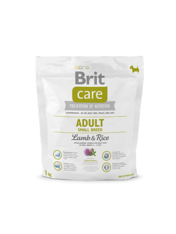 Brit Care Adult Small Breed Lamb & Rice - 1kg