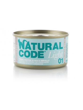 Natural Code Cat Light 01 Tuna, goji berries and cranberry 85g