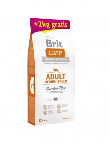 Brit Care Adult Medium Breed Lamb & Rice 12+2kg