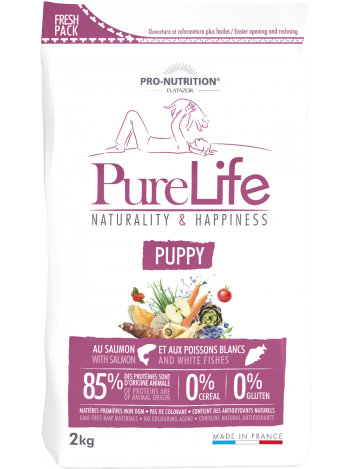 Pure Life Puppy with salmon and white fishes 2kg