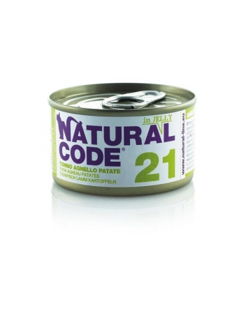 Natural Code Cat 21 Tuna, lamb and potatoes in jelly 85g