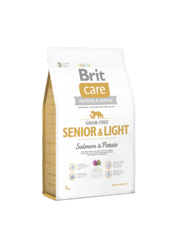 Brit Care Grain-free Senior Light Salmon - 3kg