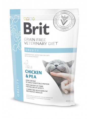 Brit Veterinary Diets Grain Free Obesity Chicken & Pea 400g