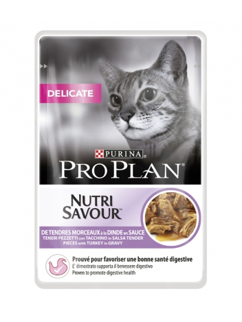 Purina Pro Plan Delicate indyk - 85g
