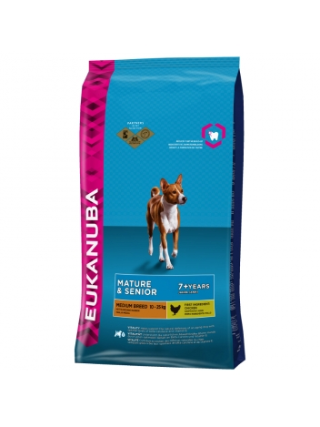 Eukanuba Mature Senior Medium Breed - 15kg