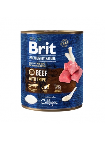 Brit Premium by Nature Adult Beef & Tripes 800g