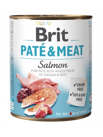 Brit Pate & Meat Salmon 800g