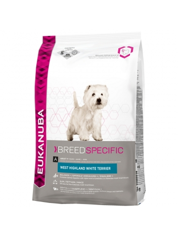 Eukanuba West Highland White Terrier - 2,5kg