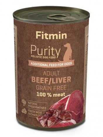 Fitmin Purity Dog Beef with liver 400g