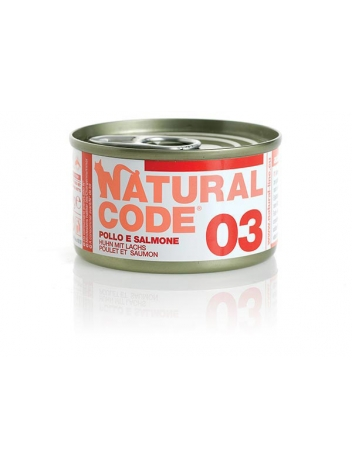 Natural Code Cat 03 Chicken and salmon 85g