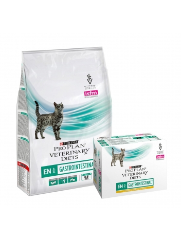 Pro Plan Veterinary Cat EN Gastrointestinal - 5kg + saszetki 10x85g