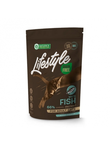 Nature's Protection Lifestyle GF Adult Cat White Fish 400g