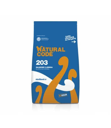 Natural Code Sterilised 203 łosoś śledź 300g