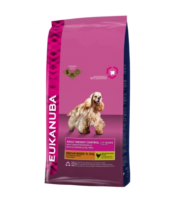 Eukanuba Adult Weight Control Medium Breed - 3kg