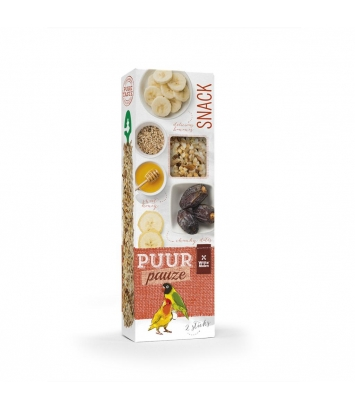Puur pauze seed sticks lovebird with honey and date 60g