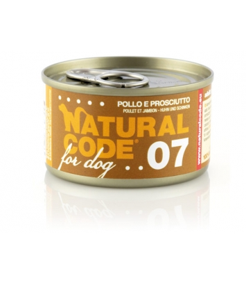 Natural Code DOG 07 Chicken and ham 90g