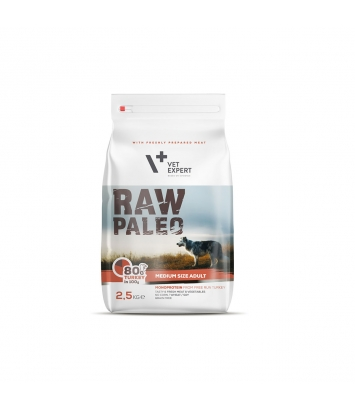 Raw Paleo Adult Medium Turkey 2,5kg
