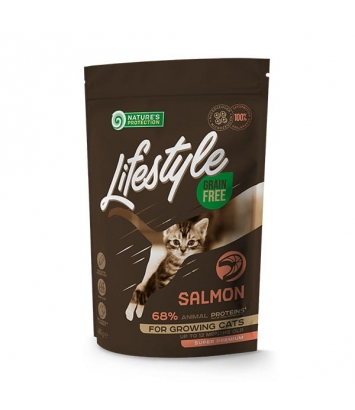 Nature's Protection Lifestyle GF Salmon Kitten 400g