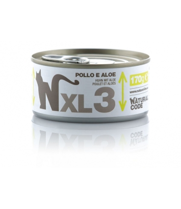Natural Code Cat XL3 chicken and aloe 170g