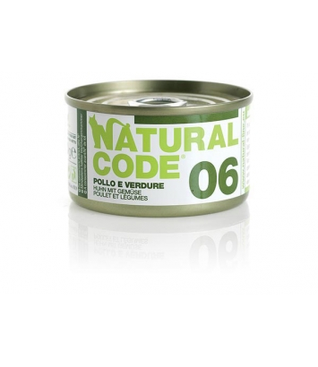 Natural Code Cat 06 Chicken and vegetables 85g